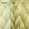 Color comparison from left to right: 1001/613 Creamy Blond, Blond, 613 Platinum Blond