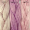 Color comparison from left to right: Ice Pink, Raspberry Ice, Light Pink