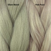 Color comparison from left to right: Silver Blond, Pale Puce