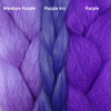 Color comparison from left to right: Medium Purple, Purple Iris, Purple