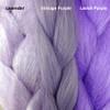 Color comparison from left to right: Lavender, Vintage Purple, Lavish Purple