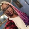 Denesia Ja'Nae wearing Daydream braids
