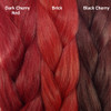 Color comparison from left to right: Demon Red, Brick, Black Cherry