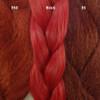 Color comparison from left to right: 350 Rusty Red, Brick, 35 Bright Auburn