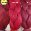 Color comparison from left to right: Burgundy, Deep Red, 118 Blood Red