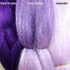 Color comparison from left to right: Dark Purple, Lilac Ombré, Lavender