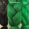 Color comparison from left to right: 1B Off Black, 1B Off Black/Emerald Green Mix, Emerald Green