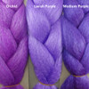 Color comparison from left to right: Orchid, Lavish Purple, Medium Purple