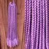 Braids made by Art by Domi in Blizzard Blue/Amethyst, Dark Amethyst/Orchid Purple, Light Plum/Candyfloss, and Medium Purple/Blizzard Blue