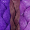 Color comparison from left to right: Purple, Plum, Orchid