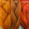Color comparison from left to right: Amber, Toffee, Burnt Orange