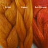 Color comparison from left to right: Amber, Copper, Burnt Orange