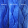 Color comparison from left to right: Bluebonnet, Blue Shimmer, Blueberry