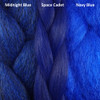 Color comparison from left to right: Midnight Blue, Space Cadet, Navy Blue