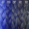 Color comparison from left to right: Sea Blue, Space Cadet, Night Sky, Dark Blue, Royal Navy