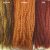Color comparison from left to right: 30/144 Honey Moon, Amber, 350 Rusty Red