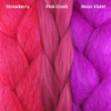 Color comparison from left to right: Strawberry, Pink Crush, Neon Violet