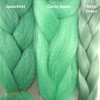 Color comparison from left to right: Spearmint, Candy Apple, Mint Green