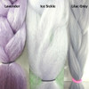 Color comparison from left to right: Lavender, Ice Sickle, Lilac Grey