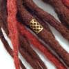 19mm Diamond Pattern Hair Cuffs, Gold