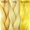 Color comparison from left to right: Buttermilk, Vanilla, Mustard Yellow