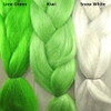 Color comparison from left to right: Lime Green, Kiwi, Snow White