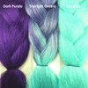 Color comparison from left to right: Dark Purple, Starlight Ombré, Sky Blue
