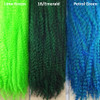 Color comparison from left to right: Lime Green, 1B Off Black/Emerald Green Mix, Petrol Green