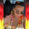 Alyssa wearing braids in Fire