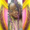 ejitterbugg wearing braids in F.Pink Sunkiss