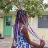 Mind Games wearing braids in F.Tropical Berry