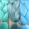 Color comparison from left to right: Sky Blue, Ocean Breeze, Light Blue