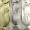 Color comparison from left to right: 22 Ash Blond, Silk Dream, 60 Silver White