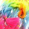 High Heat Kanekalon Braid, Neon Rainbow