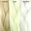 Color comparison from left to right: Vanilla Ice, Cream, Pure White