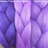 Color comparison from left to right: Medium Purple, Orchid Purple, Lavish Purple