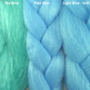Color comparison from left to right: Sky Blue, Pale Blue, Light Blue - Soft