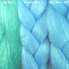 Color comparison from left to right: Sky Blue, Summer Sky, Light Blue - Soft