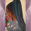 Cypress wearing braids in M.Blue Tropics and M.Fairy Godmother