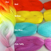 Color comparison: Jinx on the left and Red, Yellow, Sky Blue, and Pink Taffy on the right