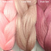 Color comparison from left to right: Pastel Pink, Coral Pink, Fruit Tart