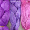 Color comparison from left to right: Orchid, M.Tropical Berry, Pink Taffy