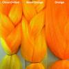 Color comparison from left to right: Citrus Ombré, Neon Orange, Orange