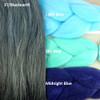 Color comparison: 3T/Blackearth on the left and Light Blue, Sky Blue, and Midnight Blue on the right