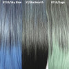 Color comparison from left to right: 1B Off Black with Sky Blue Tips, 3T/Blackearth, 1B Off Black with Sage Tips