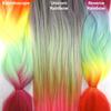 Color comparison from left to right: Kaleidoscope, Unicorn Rainbow, Reverse Rainbow