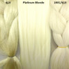 Color comparison from left to right: 613 Platinum Blond, Platinum Blonde, 1001/613 Creamy Blond