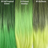 Color comparison from left to right: 1B Off Black with Tropical Green Tips, 3T/Green Swamp, 1B Off Black with Neon Tips