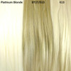 Color comparison from left to right: Platinum Blonde, BT27/613 Mixed Blond with Platinum Tips, 613 Platinum Blond