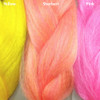 Color comparison from left to right: Yellow, Sherbert, Pink